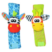 Cute Infant Baby Kids Foot Socks Rattles Finders Glove Toys Developmental