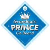 Grandma's Prince On Board Car Sign, Grandchild, Grandchildren, Car Sign, Baby On Board Sign,Baby on board, Novelty Car Sign, Baby Car Sign