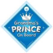 Grandma's Prince On Board Car Sign, Grandchild, Grandchildren, Car Sign, Baby On Board Sign,Baby on board, Novelty Car Sign, Baby Car Sign