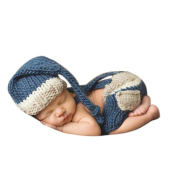 Koly Newborn Baby Girl Boy Crochet Knitted Costume Set Photography Prop Outfits