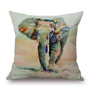 20 X 20 Inches / 50 By 50 Cm Elephant Throw Cushion Covers,twice Sides Is Fit For Lover,drawing Room,dining Room,home Office,club