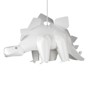 Fun Children's Bedroom White Stegosaurus Dinosaur Jurassic Bedroom Ceiling Lamp Pendant Light Shade