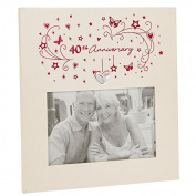 40th Ruby Wedding Anniversary Photo Frame Gift New Boxed 6 x 4