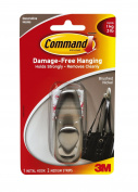 Command Medium Brushed Nickel Metal Hook