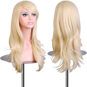 "EmaxDesign Wigs 70 cm / 28"" ~ High-Quality Cosplay Wig For Women. Long, Full, Curly, Big Wavy, & Heat Resistant. Fashion Glamour Hairpiece with Free Wig Cap & Wig Comb (Colour"