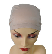 Beige/Black Bamboo Fibre Wig Hair Stock Liner Cap Stretch Mesh Net Wig extension