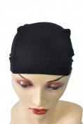 Beige/Black Bamboo Fibre Wig Hair Stock Liner Cap Stretch Mesh Net Wig extension