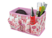 LHWY New Makeup Cosmetic Storage Box Bag Bright Organiser Foldable Stationary Container