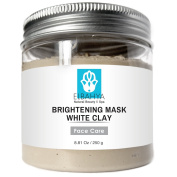 Elbahya White Clay Organic Brightening Facial Mask - Clay Deep Pore Cleansing Pull Toxins Out of the Skin, Improves Skin Complexion, Safe for Use on Dry and Delicate. Skin250g