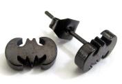Mens Superhero Single Earring- Batman Superman Movie Comic Logo Piercing Stud- 6 Varieties Available