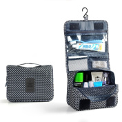 HOMPO Oxford Cloth Hanging Wash bag With Hook Make Up Cosmetics Bag Case Toiletry Organiser Storage