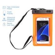 Waterproof Case,Asstar Universal Waterproof Case for Apple iPhone 6S, 6, 6S Plus, 5S, Galaxy S7, S6 Note 5, HTC, LG, Motorola up to 14cm and Card, Passport, Wallet