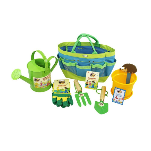 Children 39 s gardening set and growing kit green shipping for Gardening kit for toddlers
