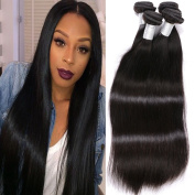 Gem Beauty Supply Hair Products Brazilian Virgin Hair Straight 4 Bundles Brazilian Human Hair Weaving Natural Colour