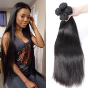 Gem Beauty Supply Malaysian Straight Hair 3 Bundles Virgin Unprocessed Human Hair Wefts Hair Extensions Deal with Mixed Lengths 100% Human Hair Extensions