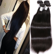 Gem Beauty Hair Brazilian Straight Hair 4 Bundles Virgin Unprocessed Human Hair Wefts Hair Extensions Deal with Mixed Lengths 100% Human Hair Extensions