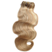 BEFA Hair 7A Body Wave Clip in Human Hair Extensions 100% Real Human Hair Extension 120g/Pack