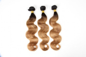 Durian Hair Ombre Brazilian Body Wave Black Blonde T1B-27 Omber Human Hair Extensions Virgin Hair 3 Bundles