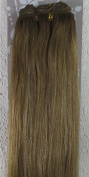 New 46cm - 80cm Remy Straight Weft Weave Human Hair Extensions 100g #10 Medium Golden Brown