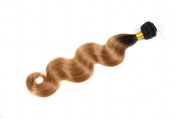 Durian Hair Ombre Brazilian Body Wave Black Blonde T1B-27 Omber Human Hair Extensions Virgin Hair 1 Bundle 60cm