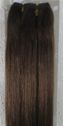 New 46cm - 90cm Remy Straight Weft Weave Human Hair Extensions 100g #6 Medium Brown