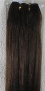New 46cm - 90cm Remy Straight Weft Weave Human Hair Extensions 100g #4 Dark Brown