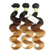 Badshop 8A Brazilian Virgin Hair Body Wave 1B-4#-27# Ombre Hair Extensions Human Hair 4 Bundles