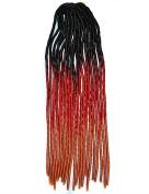 Stepupgirl 50cm Black Jacinth Orange Three Ombre Colour Soft Dread Lock Crochet Synthetic Braiding Hair
