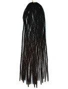 Stepupgirl 50cm Black to Dark Brown Two Ombre Colour Soft Dread Lock Crochet Synthetic Braiding Hair