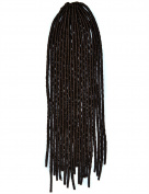 Stepupgirl 50cm Pure Dark Brown Colour Soft Dread Lock Crochet Synthetic Braiding Hair