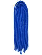 Stepupgirl 50cm Pure Dark Blue Colour Soft Dread Lock Crochet Synthetic Braiding Hair