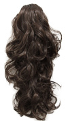 PRETTYSHOP 60cm Hair Piece Pony Tail Extension Very Long & Voluminous Curly Or Wavy Heat-Resisting H68