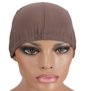 Wig Mall Wig Caps for Wig Making Glueless Ultra Stretchy Nets Small Brown