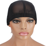 Wig Mall Wig Caps for Wig Making Glueless Ultra Stretchy Nets Medium Black