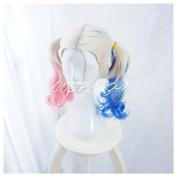 COSPLAZA Cosplay Wigs Medium Blue Pink Blonde Fashion Culry Wavy Styled Anime Halloween Hair