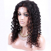 100% Brazilian Virgin Hair Curly Natural Colour Full Lace Human Hair Wigs for Black Women Top Grade Glueless Full Lace Wig