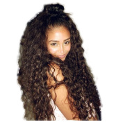 Curly Human Hair Lace Front Wigs 130% Density Brazilian Virgin Loose Deep Curly Wig with Baby Hair for Black Women 60cm