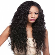 Natural Curly 100% Unprocessed Brazilian Human Hair 130% Density Lace Front Wigs For Black Women
