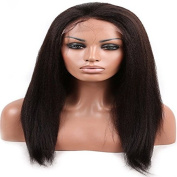 HOT Afro Kinky Straight Natural Colour 100% Unprocessed Brazilian Virgin Hair Full Lace Human Hair Wig 25cm - 70cm 130 Denisity for Black Women