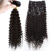 Fashion & Beauty HOT Hair Extensions 9pcs 110g Remy Full Head Kinky Curly Clip In Brazilian Virgin Human Hair Clips