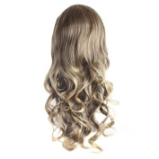 DAYISS Women's 3/4 Long Curly Wavy Full Wig Glamour Cosplay Heat Resistant Hair Clip