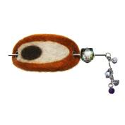 Tamarusan Hairpin Barretter Felt Amethyst Freshwater Pearl Barrette Hair Accessories Handmade Original Resin