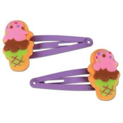 Stephen Joseph Ice Cream Hair Clips Set of 2 pairs