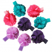 8Pcs Toddler Flower Ribbon Hair Clips Baby Little Girls Boutique Hair Bows Hair Clips Baby Girls Toddlers Kids Barrettes