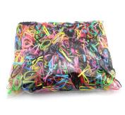 TOPWEL 1000PCS Colour High Elasticity Elastic Bands Rubber Bands