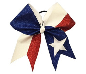 The Ultimate Bow - Superior Glitter Stars and Stripes Team USA Cheer Bow