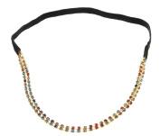 EOZY Women Two-row Alloy Coloured-rhinestone Elastic Hair Band Headband
