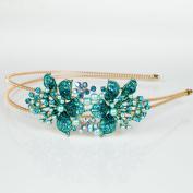 Beautyxyz Woman's Wedding Fashion Women's Crystal Rhinestone pearl Headband Hair Band