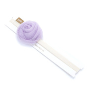 Baby Lace Rose Headband - Lavender/ Ivory - Infant/ Toddler