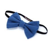Girls Bow Headband - Blue